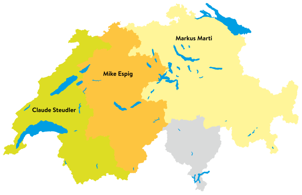 Gebietskarte FRISBA-Garagen