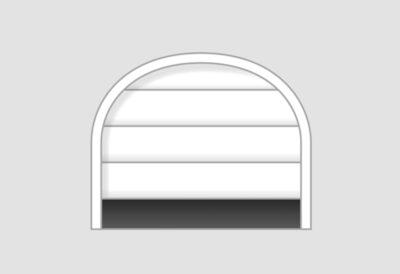 Sektionaltor für Garagenöffnung mit Rundbogen