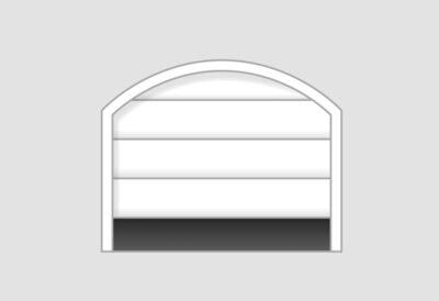 Sektionaltor für Garagenöffnung mit aufgesetzten Segmentbogen